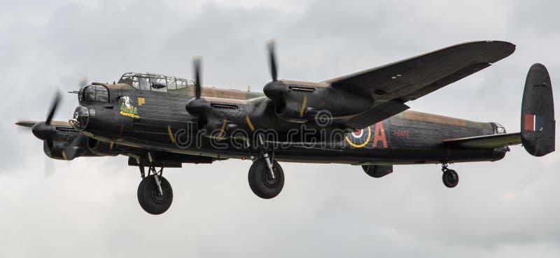 Lancaster bombplannivå arkivfoton