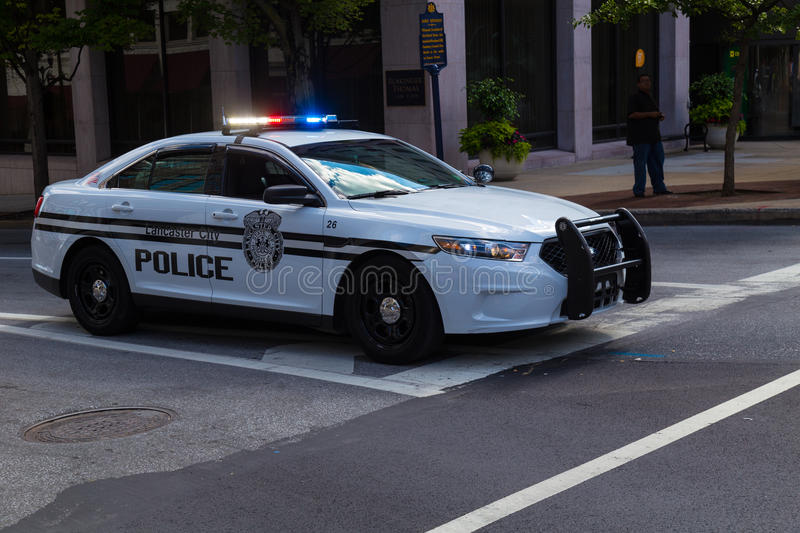 Lancaster City PA Police Car stock image