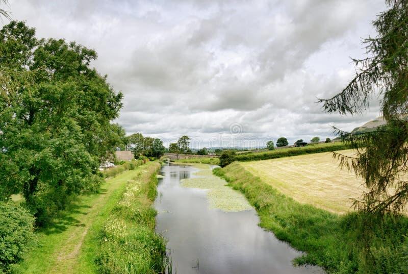 Lancaster-Kanal bei Holme lizenzfreies stockbild