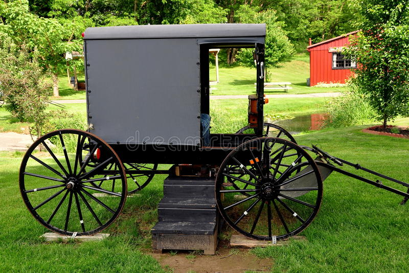 Lancaster, PA: Amish powozik obrazy royalty free
