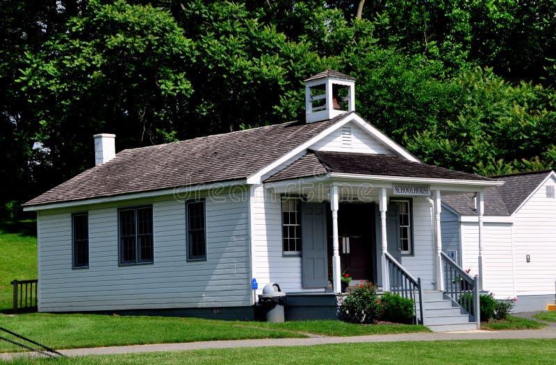 Lancaster, PA: Amish wioski budynek szkoły zdjęcia royalty free