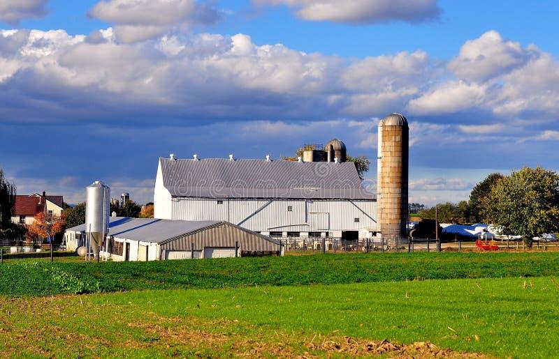 Lancaster, PA: Exploração agrícola de Amish foto de stock royalty free