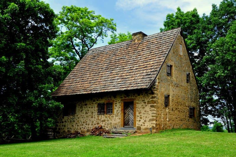 Lancaster, PA: 1719 Hans Herr House stock afbeelding