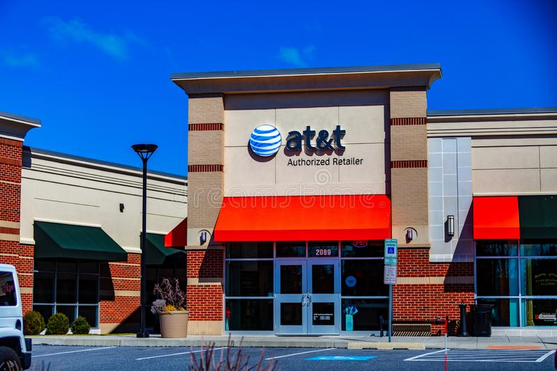 AT&T Authorized Retailer store royalty free stock photos