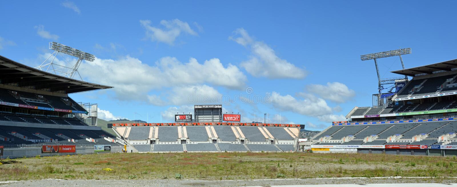 Lancaster Park Panorama - A Sad Picture of Dereliction. royalty free stock image