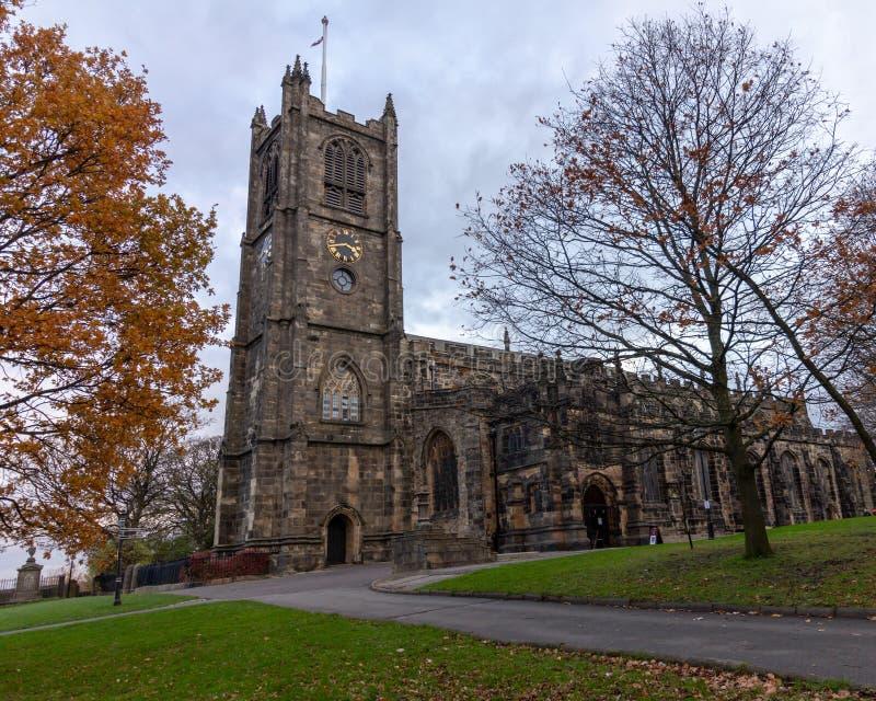 Lancaster priorskloster nära den Lancaster slotten fotografering för bildbyråer