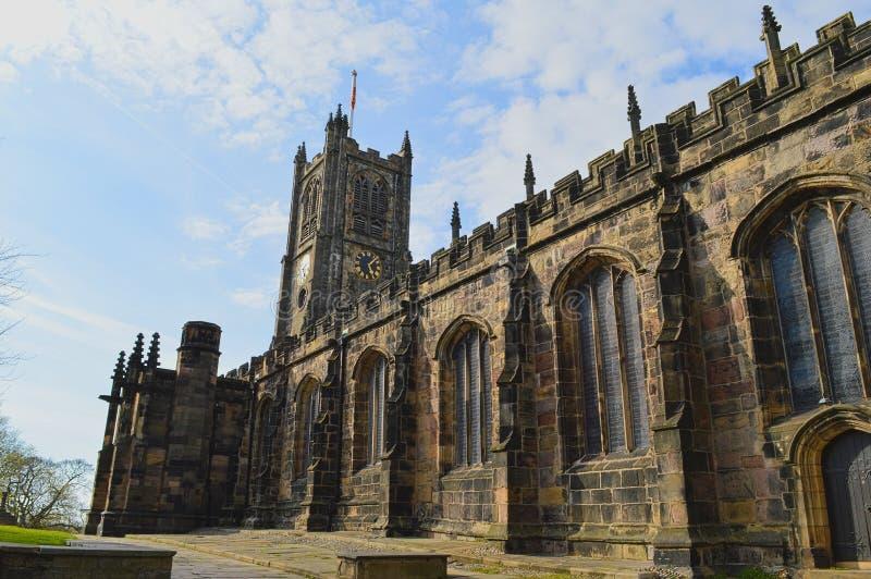 Lancaster Priory w Lancaster, Lancashire, UK obrazy royalty free