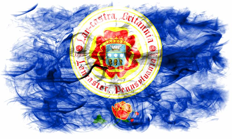 Lancaster-Stadtrauchflagge, Staat Pennsylvania, Vereinigte Staaten von vektor abbildung