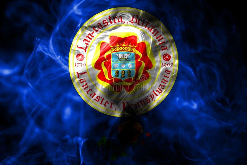 Lancaster-Stadtrauchflagge, Staat Pennsylvania, Vereinigte Staaten von lizenzfreie abbildung