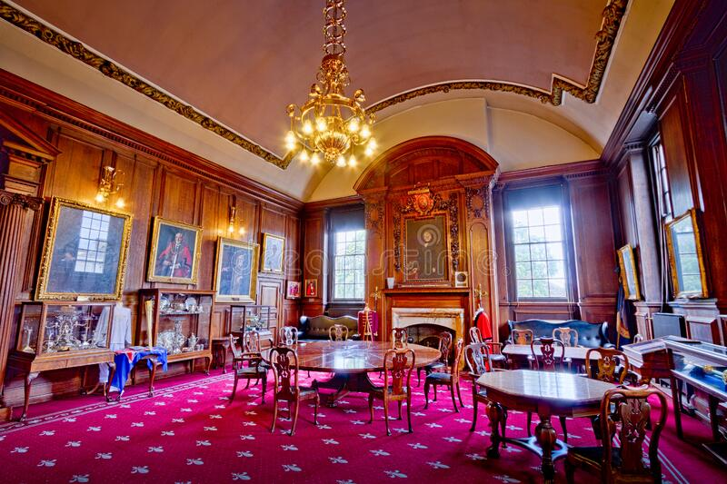 Lancaster Town Hall Mayors Parlour Room stock image