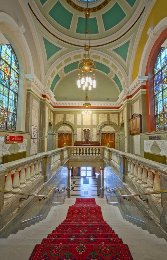 Lancaster Town Hall Stairs royalty free stock photos