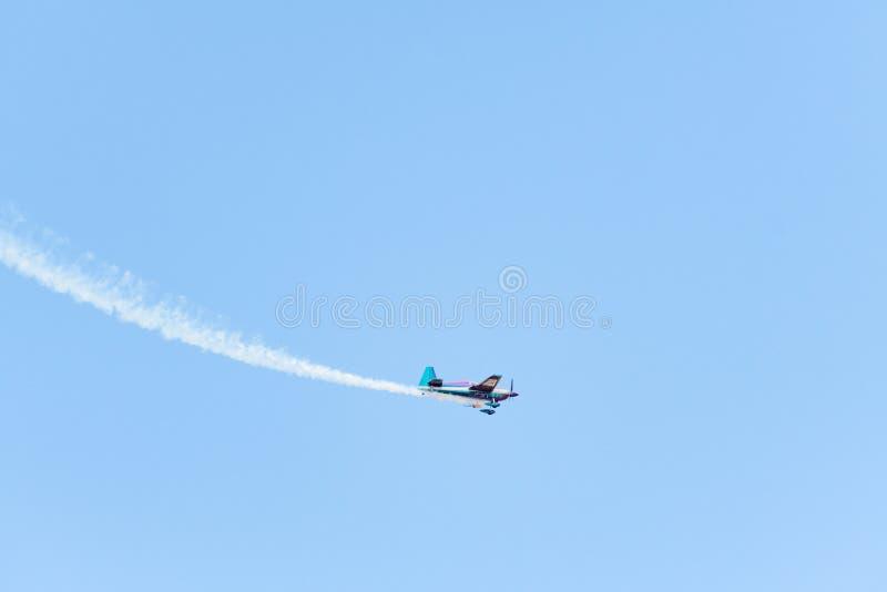 Bill Stein is flying an a Zivko Edge 540 stock photo
