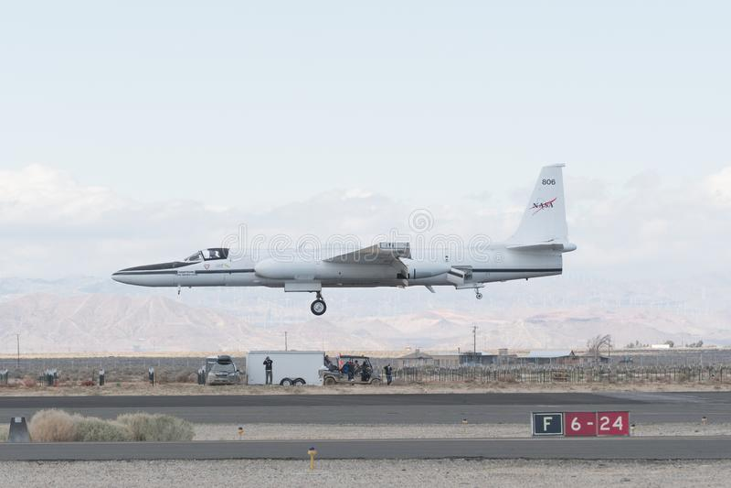NASA Lockheed ER-2 on display stock photo