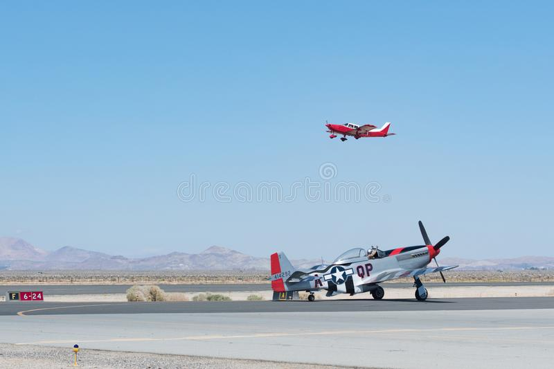 North American P-51D Mustang royalty free stock photo