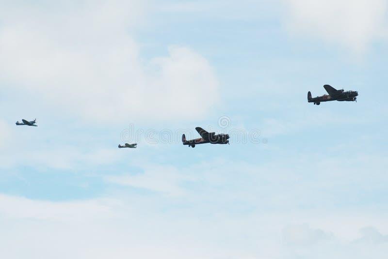 Lancasters över Eastbourne arkivbild