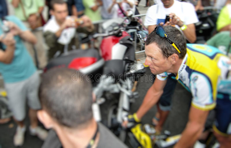 Lance Armstrong royalty-vrije stock fotografie