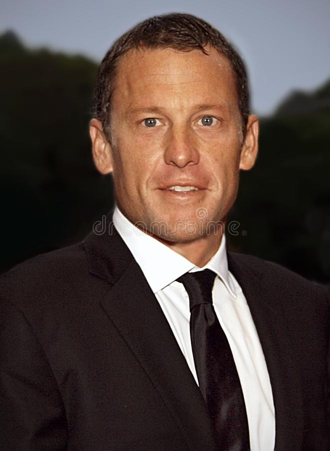 Lance Armstrong stock afbeelding