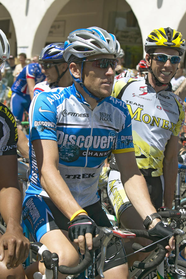 Lance Armstrong imagem de stock