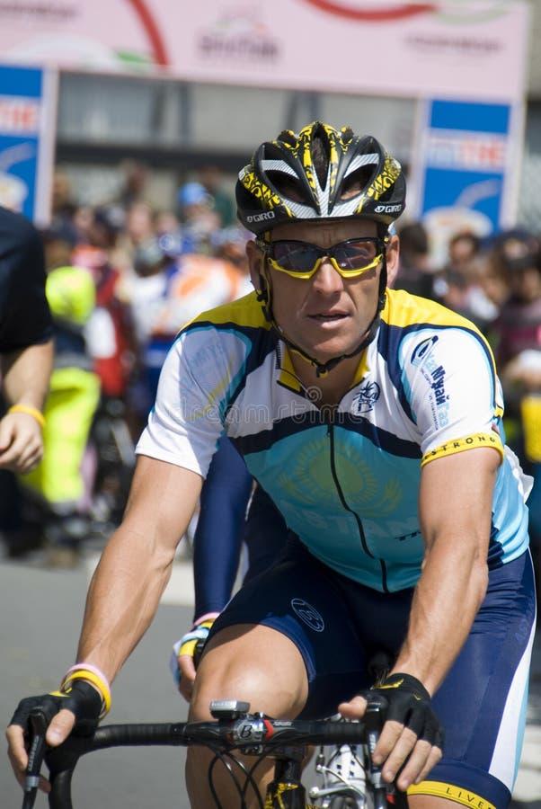 Lance Armstrong bij d'Italia van de Giro 100° stock fotografie