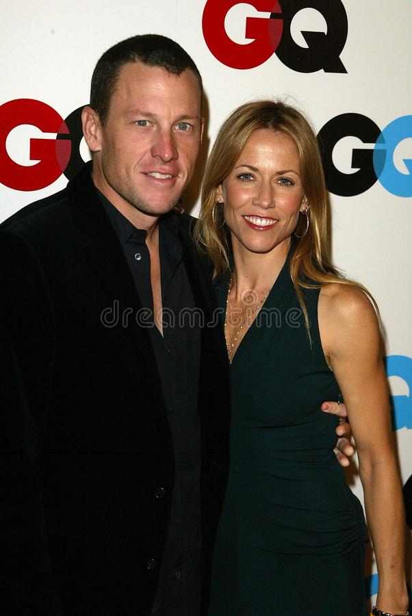 Lance Armstrong, Sheryl Crow stock foto