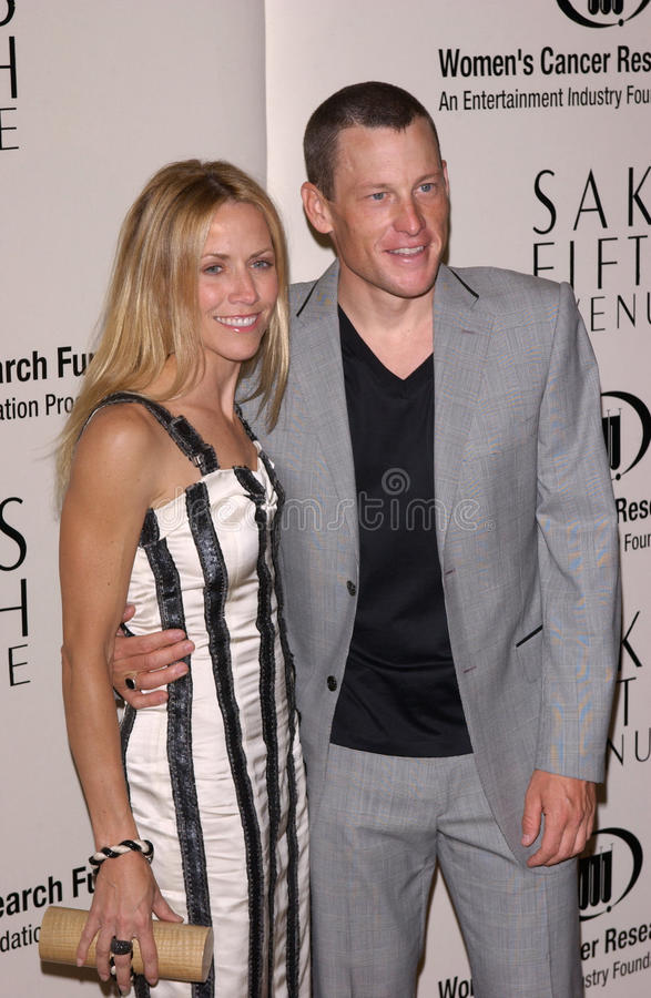 Lance Armstrong, Sheryl Crow stock fotografie