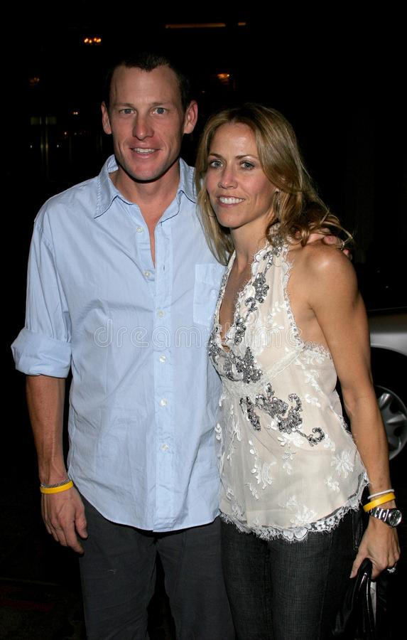 Lance Armstrong and Sheryl Crow royalty free stock image