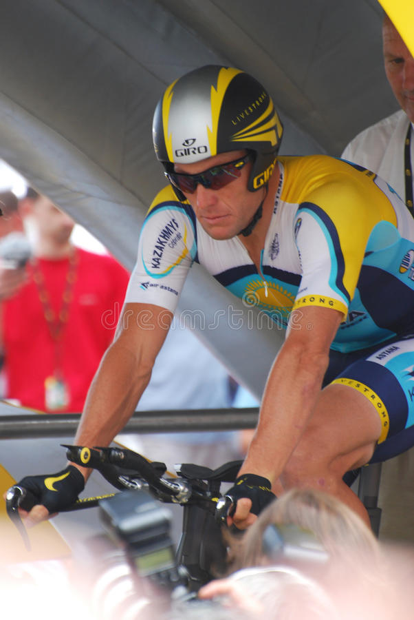 Lance d'Armstrong - Tour de France 2009 photo libre de droits