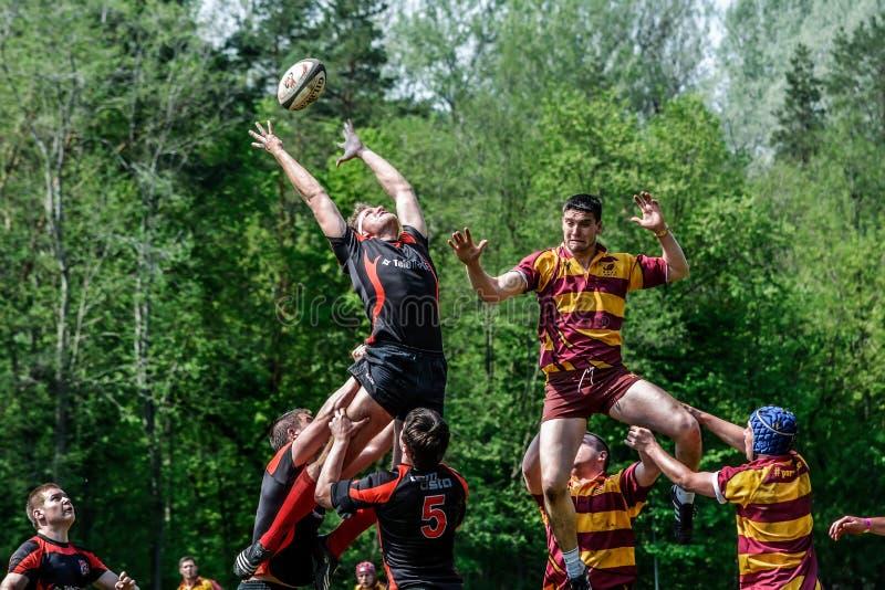 Lance da bola de rugby foto de stock royalty free