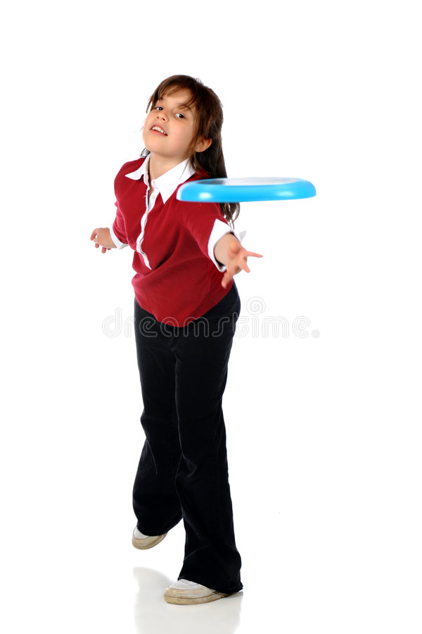 Lance do Frisbee fotografia de stock