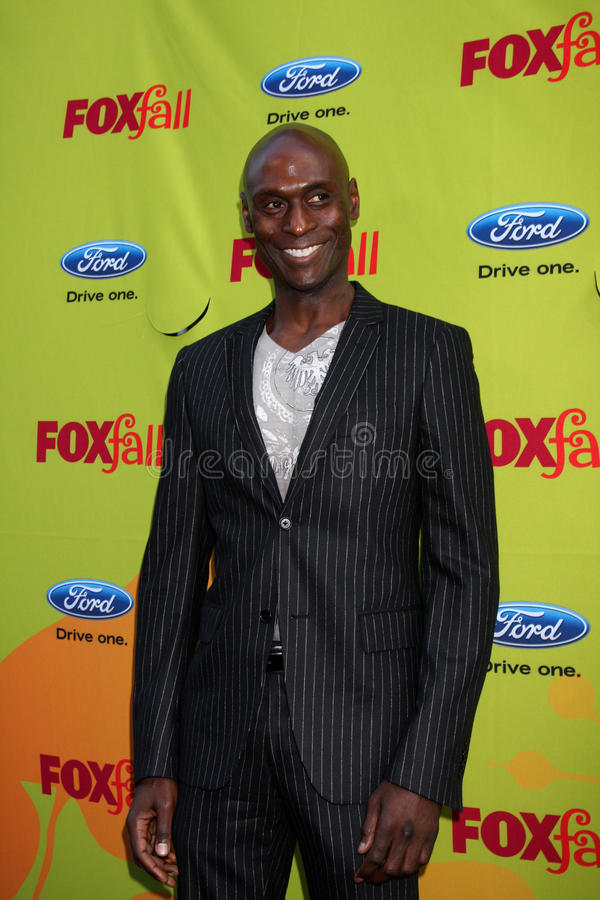 Lance Reddick. Arriving at the FOX-Fall Eco-Casino Party at BOA Steakhouse in West Los Angeles, CA on September 14, 2009 royalty free stock images