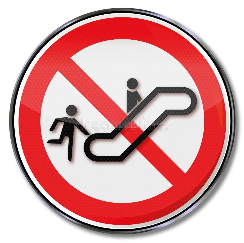 Lanceer niet de roltrap en overval stock illustratie