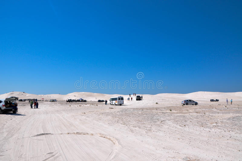 Lancelin Dunes: Tourists Attraction stock image