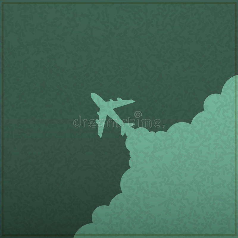 Lancement d'avion de tableau illustration stock