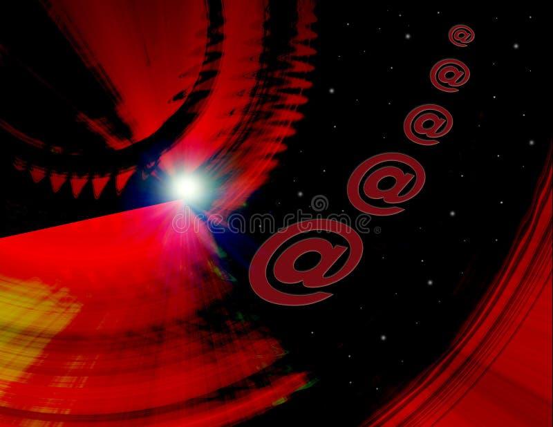 Lancement d'Internet photographie stock libre de droits