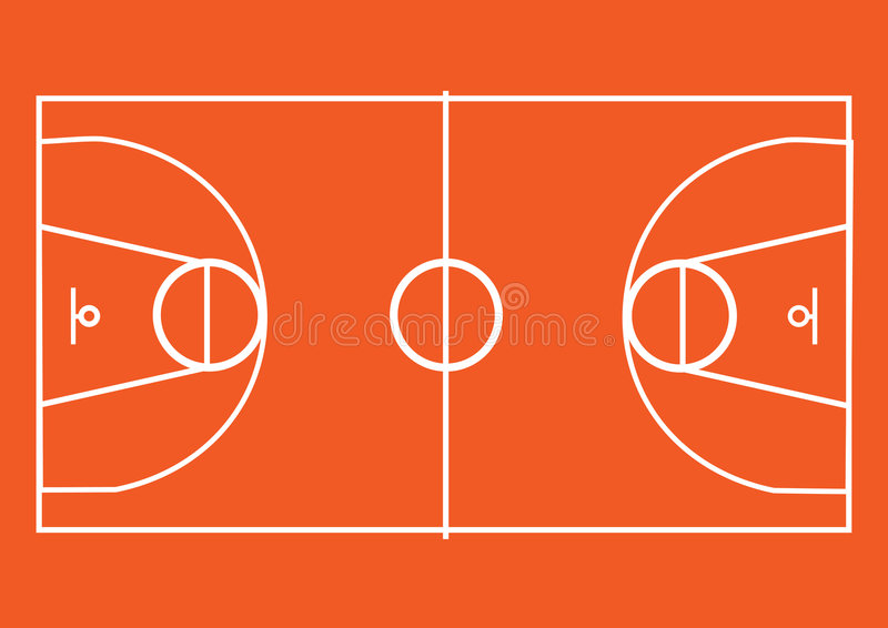 Lancement de basket-ball illustration de vecteur