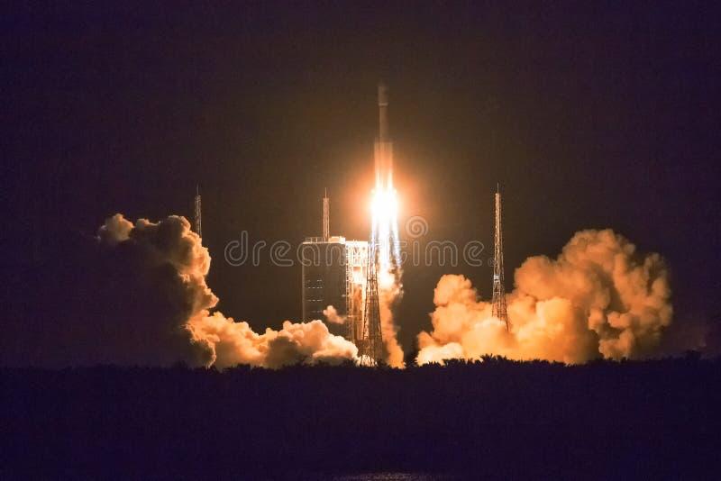 Lancement de fusée de l'espace photo stock