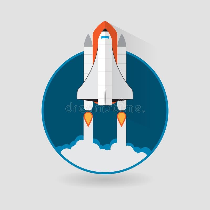 Lancement de navette spatiale Illustration de vecteur illustration de vecteur