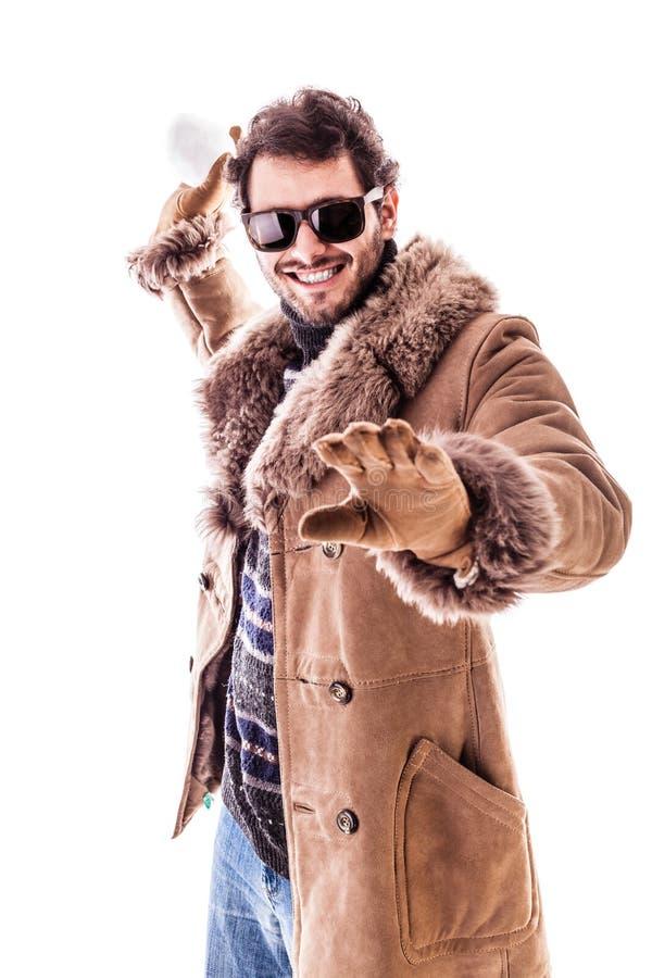 Download Lancement de Snowball photo stock. Image du gants, heureux - 45360814