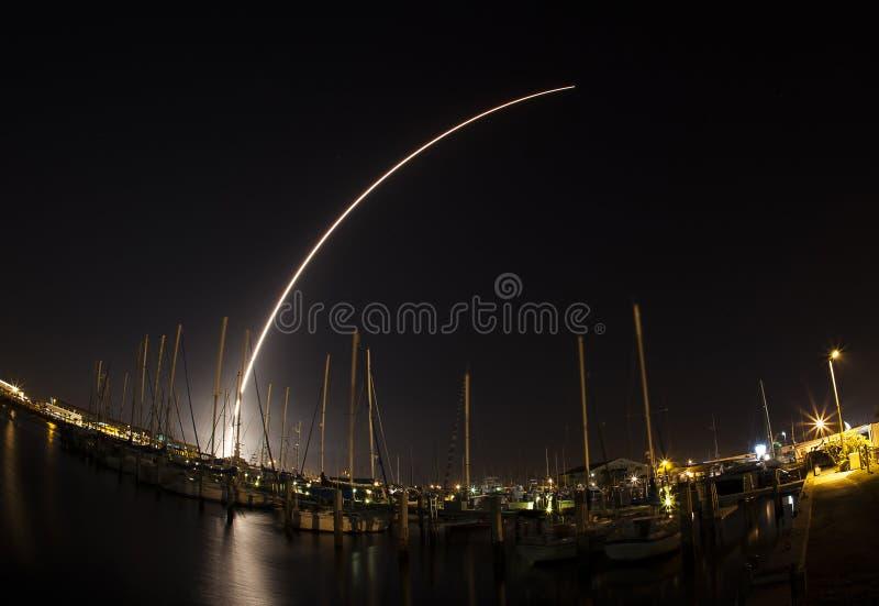 Lancement du delta IV chez Cap Canaveral photos libres de droits