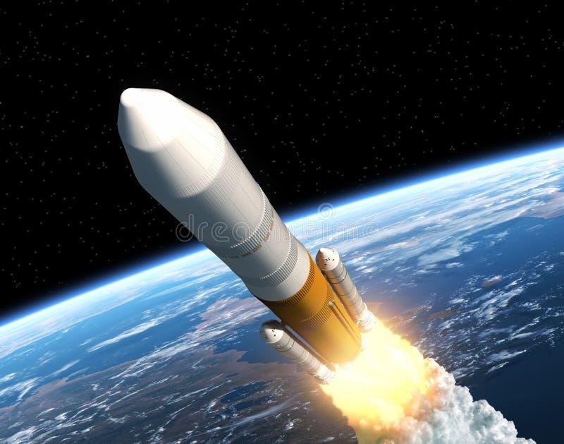Lancement Rocket Launching de cargaison illustration stock