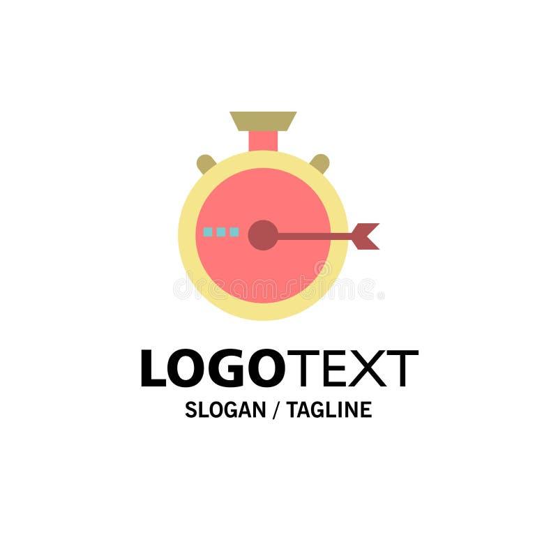 Lancering, Beheer, Optimalisering, Versie, Chronometerzaken Logo Template vlakke kleur stock illustratie