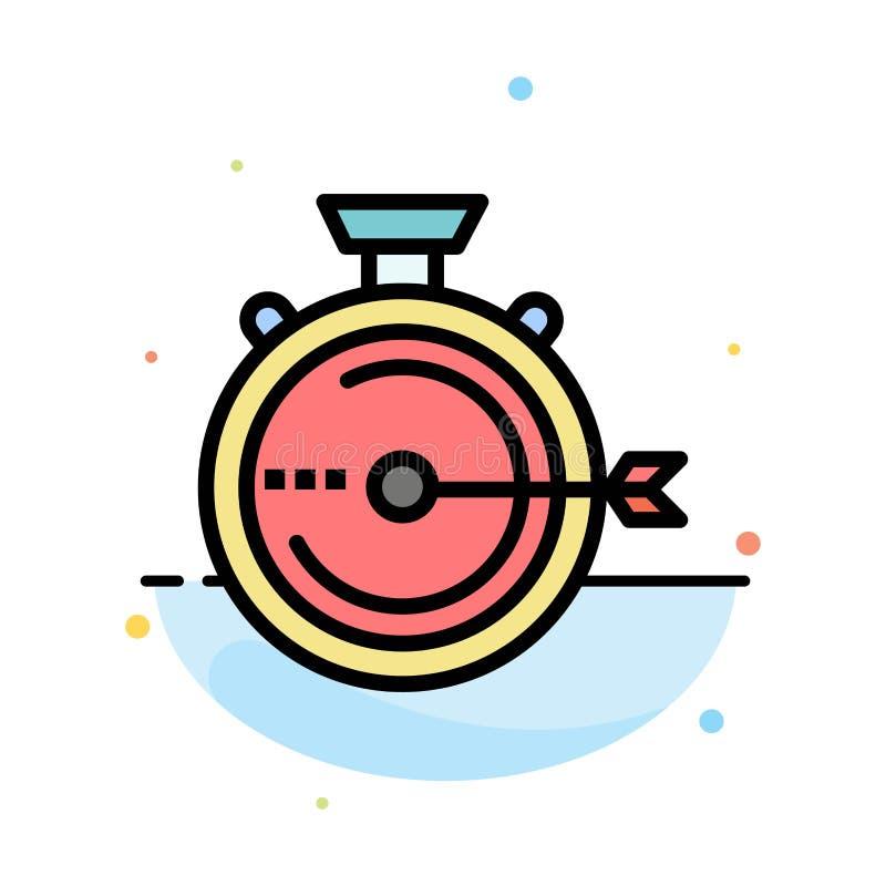 Lancering, Beheer, Optimalisering, Versie, het Pictogrammalplaatje van de Chronometer Abstract Vlak Kleur stock illustratie