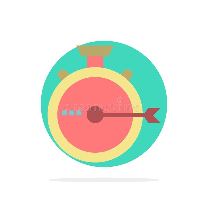 Lancering, Beheer, Optimalisering, Versie, van de Achtergrond chronometer Abstract Cirkel Vlak kleurenpictogram royalty-vrije illustratie