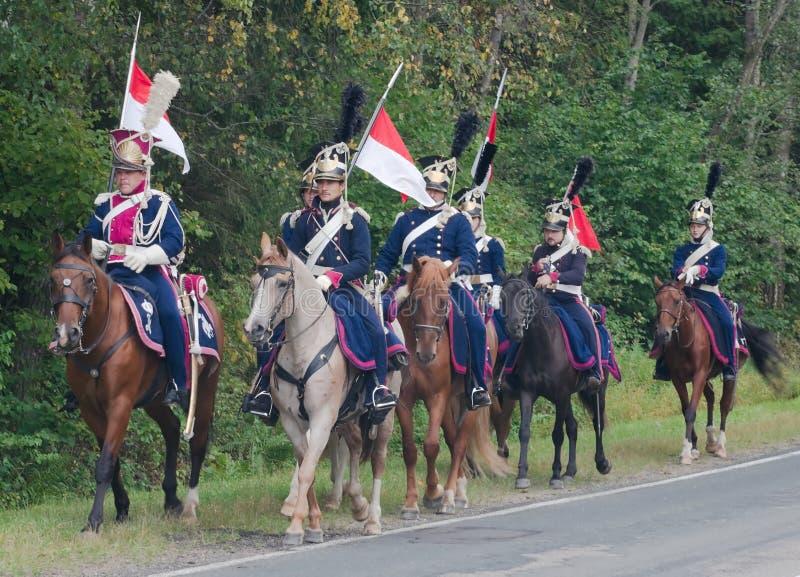 Lancers poloneses do cavalo imagens de stock