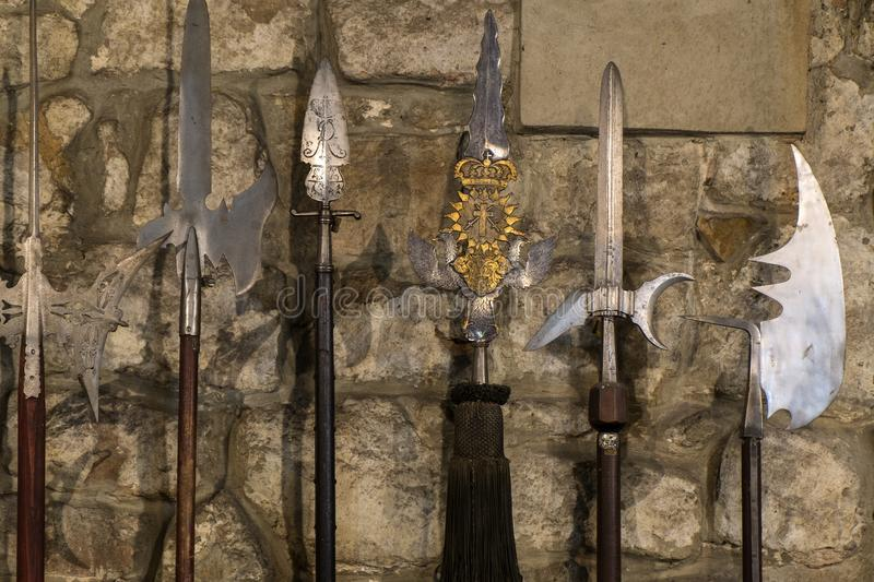 Lances chevaleresques antiques photo libre de droits