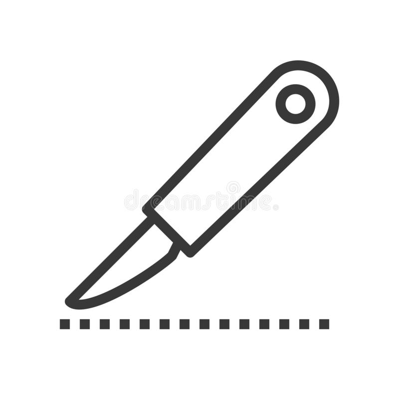 Lancet or scalpel for surgery, medical related outline icon royalty free illustration