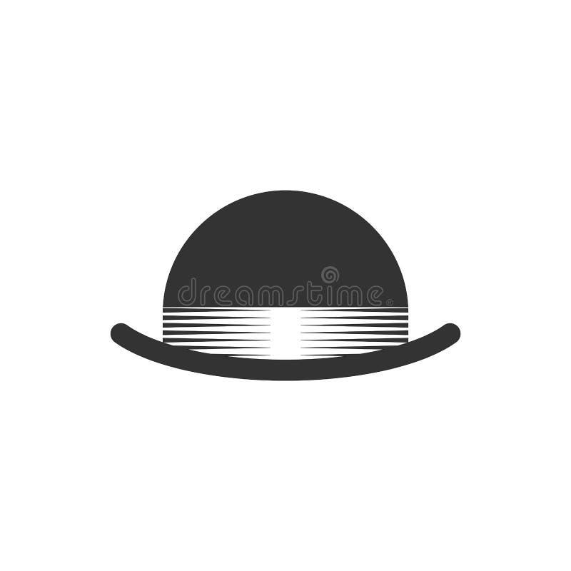 Lanceur de chapeau d'isolement Chapeau noir de cru Illustration de vecteur illustration libre de droits