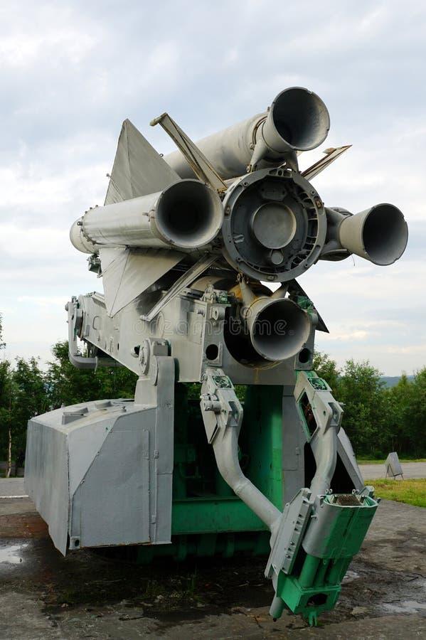 Lanceur du missile antiaérien Soviétique-fait C-200 photo libre de droits