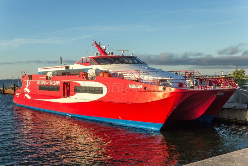 Lancha fresca vermelha do mar fotos de stock royalty free