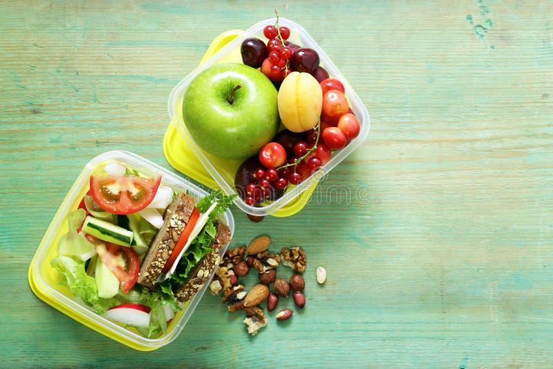 Lancheira para a dieta saudável comer fotos de stock royalty free